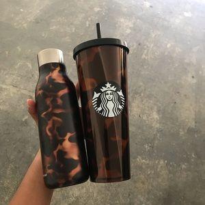 Starbucks tortoise tumblr & Stainless Steel Bottle